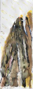 'Brandpunt' 25 x 65  mixed media on paper