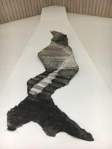 'Stairs' mixed media, paper. Ateliers van museum de Wieger.