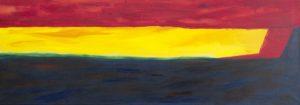 z.t. 100 x 35 acryl/oil on canvas